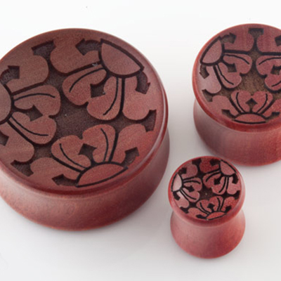 Pink Ivory Trio Concave Plugs