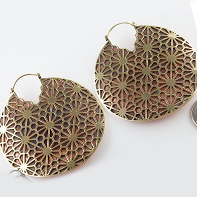 Copper and brass Paparazzi hoops