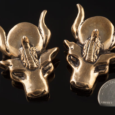 Solid bronze Asterion weights