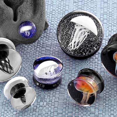 Glass Jellyfish Plugs