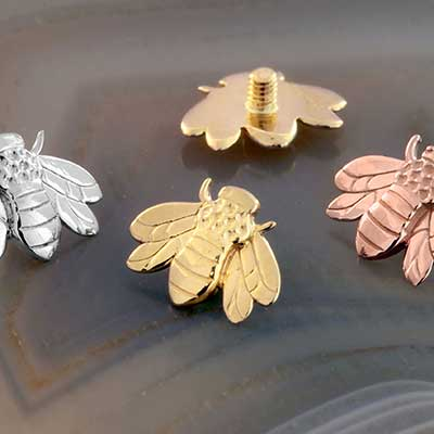 14k gold bumble bee threaded end