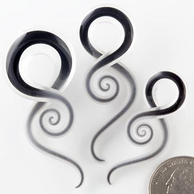 Mini pyrex squids (Captured raven seaglass)