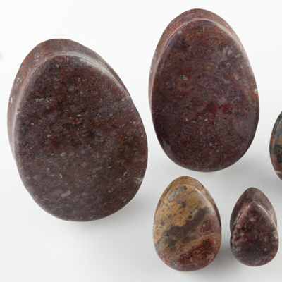 Leopardskin jasper teardrop plugs