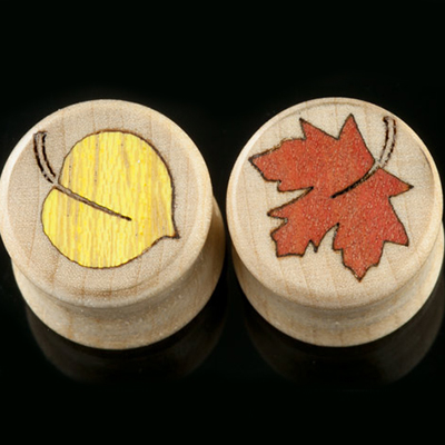 Curly Maple Falling Leaves Plugs