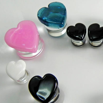 PRE-ORDER  Heart Shaped Front Glass Plug