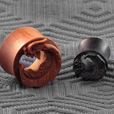 Wood Elvin Wing Plugs