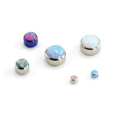 PRE-ORDER Titanium Faux-Pal Opal Bezel Set Captive Bead