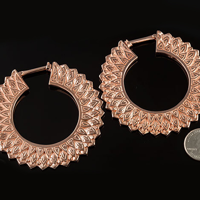 18K rose gold plated 2012 design