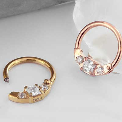 14k Gold Plated Horizontal Princess Clicker