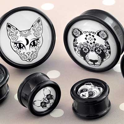 Day of the Dead Animal Plugs