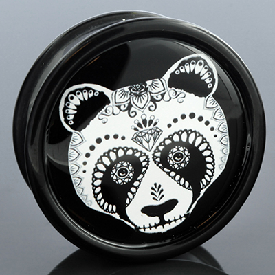 Day of the Dead Panda Plug