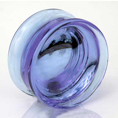 Glass Solid Color Concave Plugs (Lavender)