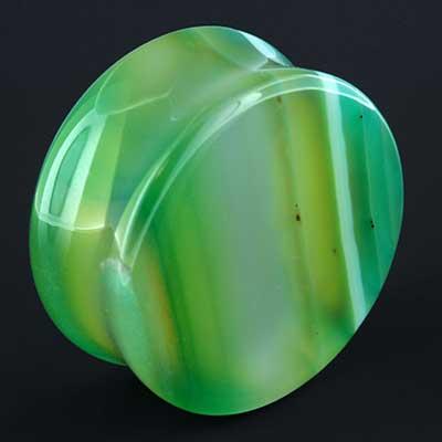 Green Agate Stone Plugs