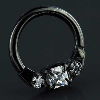 Black-coated titanium horizontal princess clicker