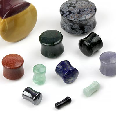 Stone and Glass Plugs