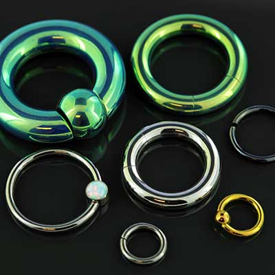 Clearance Anatometal Captive, Seamless and Segment Rings