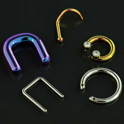 Clearance Anatometal Nosescrew, Septum Retainer and Septum Rings