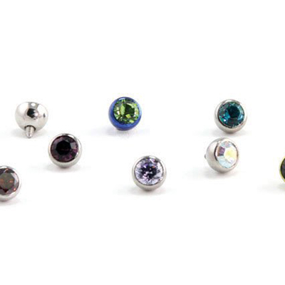 PRE-ORDER Titanium low profile faceted gem ball (TLPFGB)