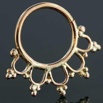 14K rose gold Annora septum seamless ring