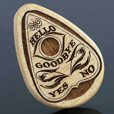 Curly Maple Planchette Plugs