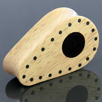Maple Teardrop Plugs with Ebony Inlays