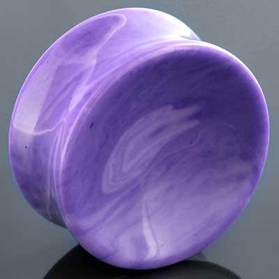 Violet Agate Stone Plugs