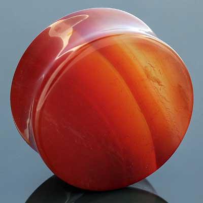 Red agate stone plug