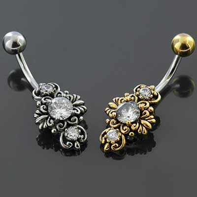 Ornate Gemmed Navel