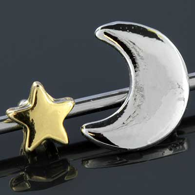 Moon and Star Industrial Barbell Set