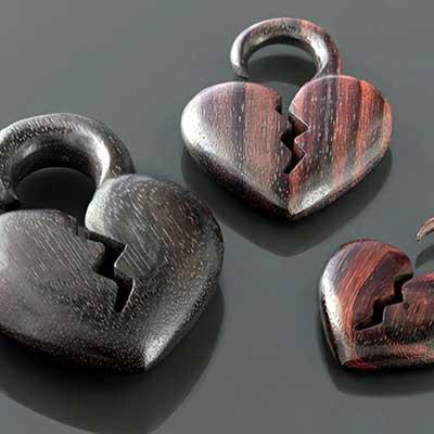Ebony Wood Broken Hearted Design