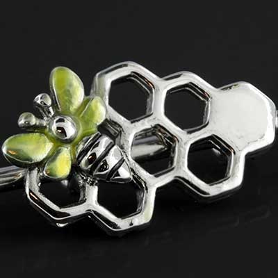 Honeycomb and Bee Industrial Barbell Set