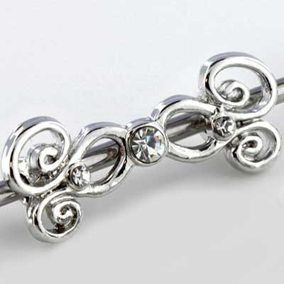 Gem Swirl Industrial Barbell Set