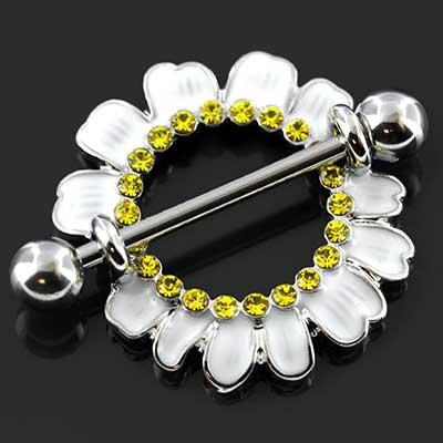 White daisy nipple shield