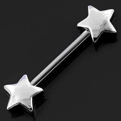 Star nipple barbell