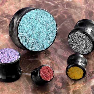 Surface Dichro Glass Plugs