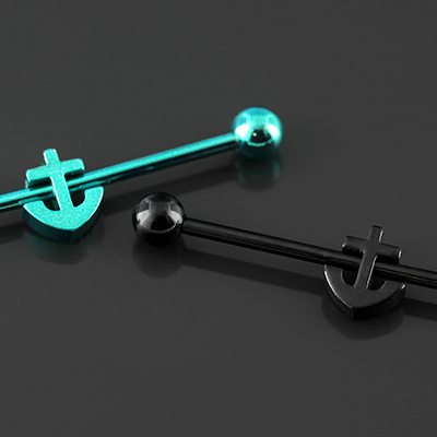 Color-coated anchor industrial barbell