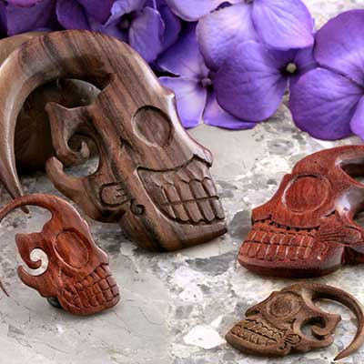 Wood Sugar Skull Design