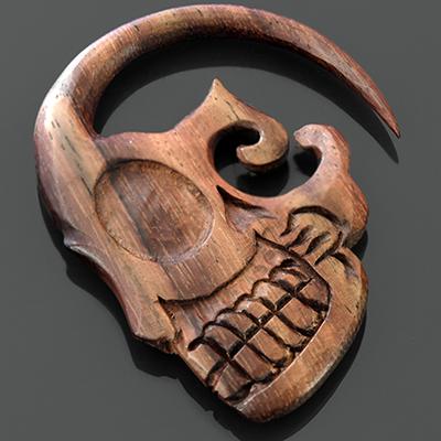 Wood sugar skulls