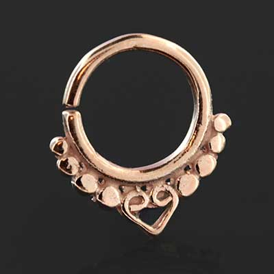 Heart Seamless Septum Ring