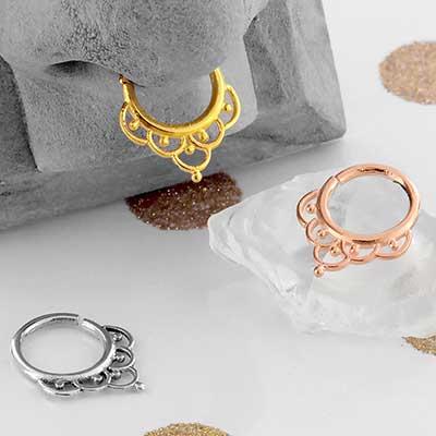 Ornate Seamless Septum Ring
