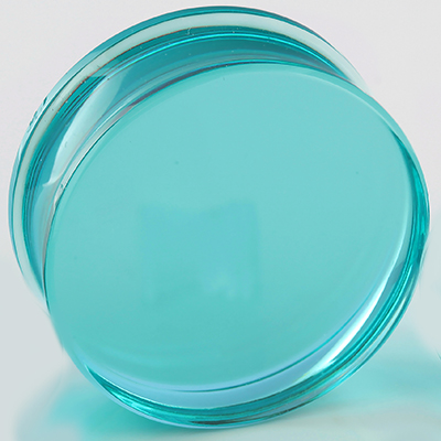 Glass solid color plugs (Turquoise)