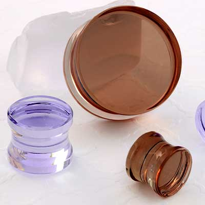 Glass Solid Color Plugs
