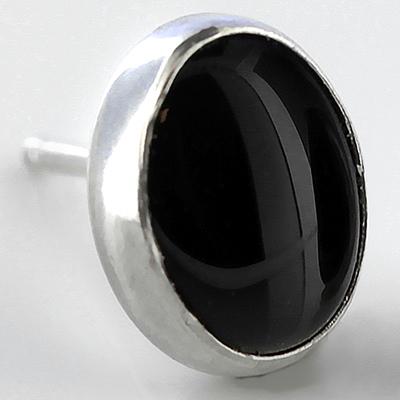 Oval Stone Earrings