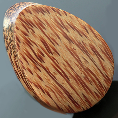 Cross Cut Coconut Wood Teardrop Plugs