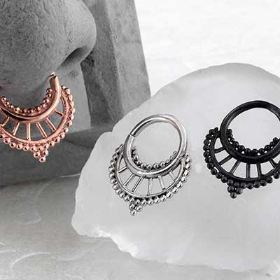 Spindle Seamless Septum Ring