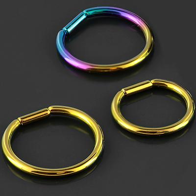 Titanium captive bar ring