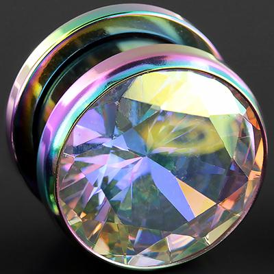 Rainbow eyelet with AB gem