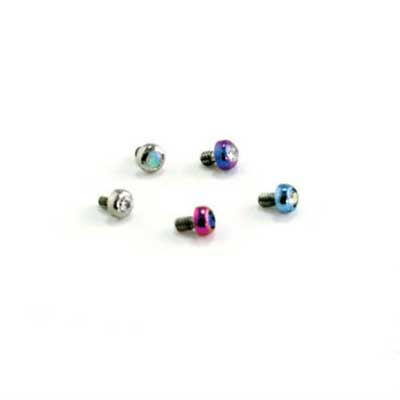 PRE-ORDER Titanium micro gem threaded end