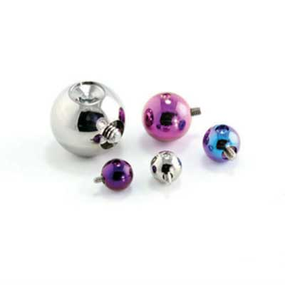 PRE-ORDER Titanium dent drilled threaded ball (slave end)