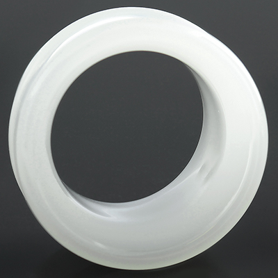 Single Flare Pyrex Glass Eyelets (White)